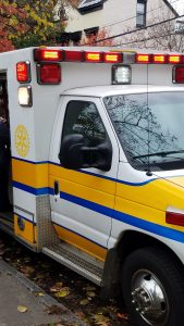 ambulance with Rotary logo decal