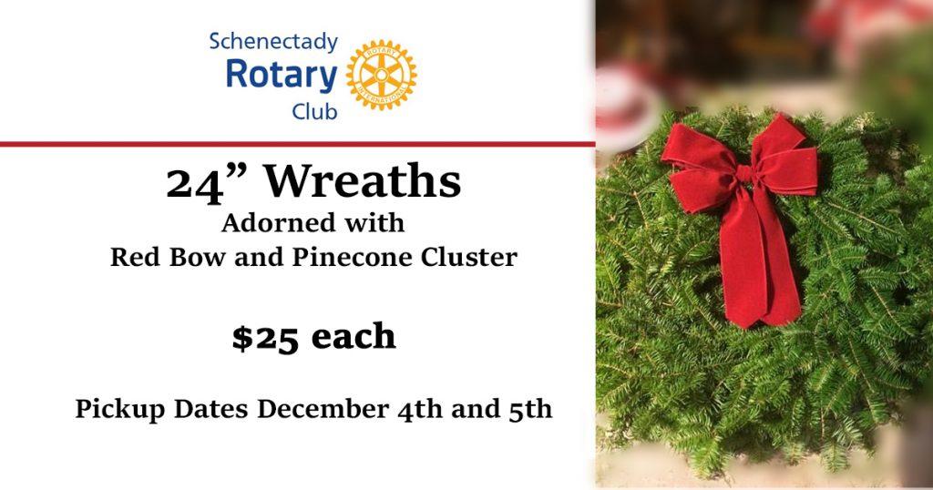 """24"""" wreaths, $25 each"""