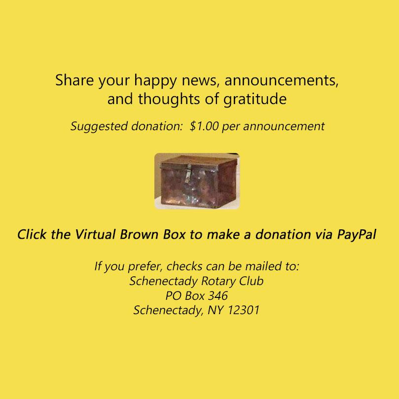 Make a Happy Dollar donation via PayPal